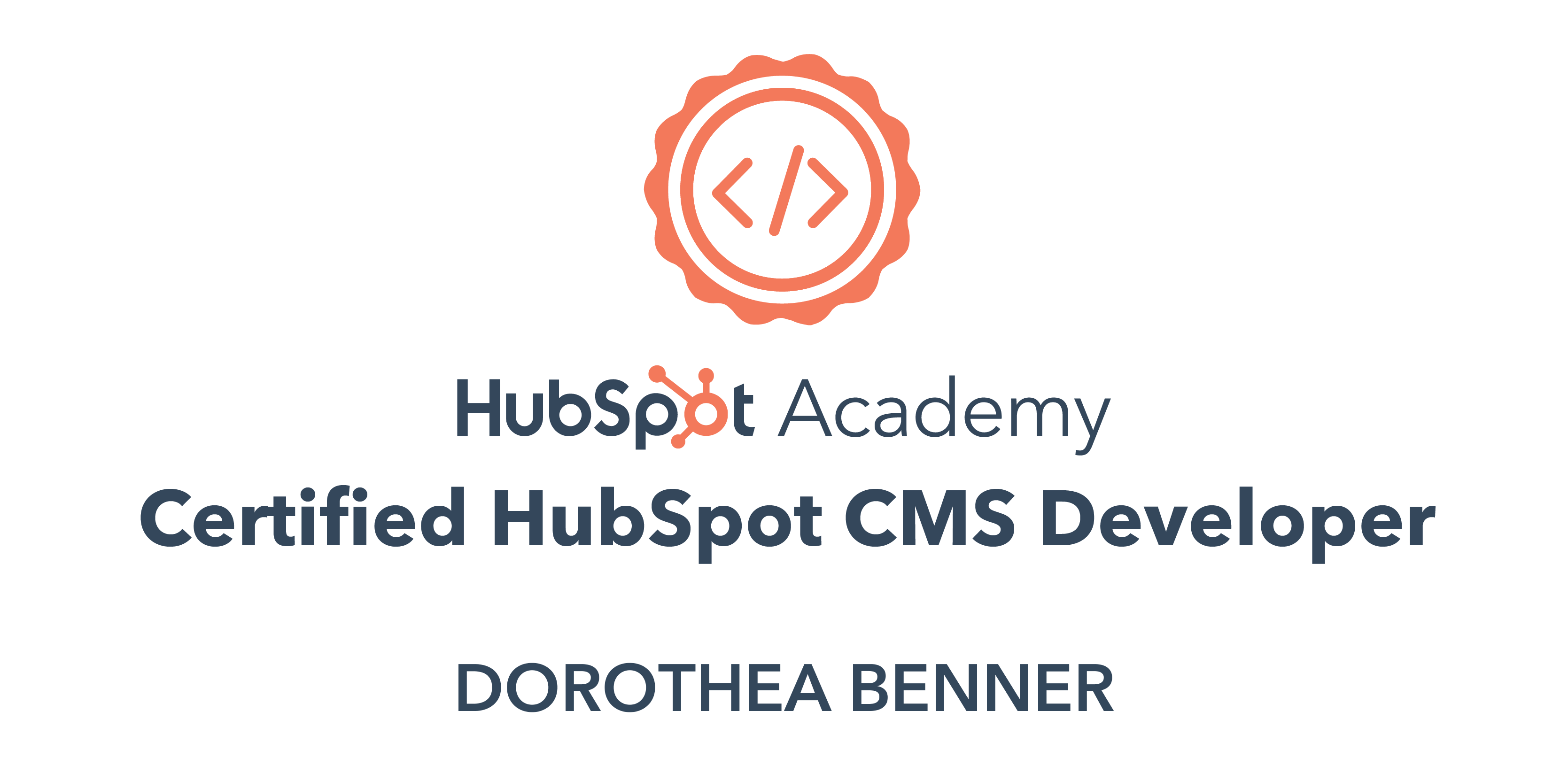 HubSpot Certiefied CMS Developer
